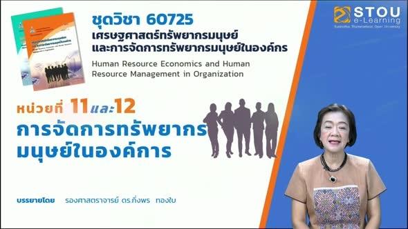 60725 โมดูล 8 สรุปเนื้อหาหน่วยที่ 11 และ 12การจัดการทรัพยากรมนุษย์ในองค์การ