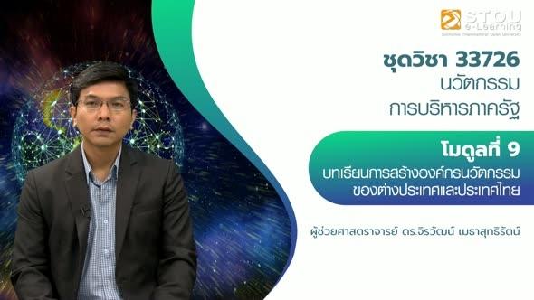 33726 โมดูลที่ 9 บทเรียนการสร้างองค์กรนวัตกรรมของต่างประเทศและประเทศไทย