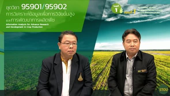 95901 โมดูลที่ 1 ตอนที่ 1 กระบวนทัศน์ ปรัชญาและรูปแบบการวิจัยการจัดการการผลิตพืชและการพัฒนา
