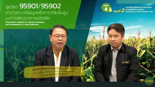 95901 โมดูลที่ 4 ตอนที่ 2 การวิจัยเชิงปฏิบัติการทางการจัดการการผลิตพืชและการพัฒนา