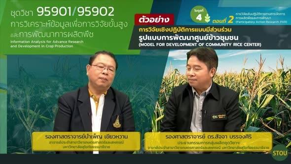 95901 โมดูลที่ 4 ตอนที่ 2.1 การวิจัยเชิงปฏิบัติการทางการจัดการการผลิตพืชและการพัฒนา