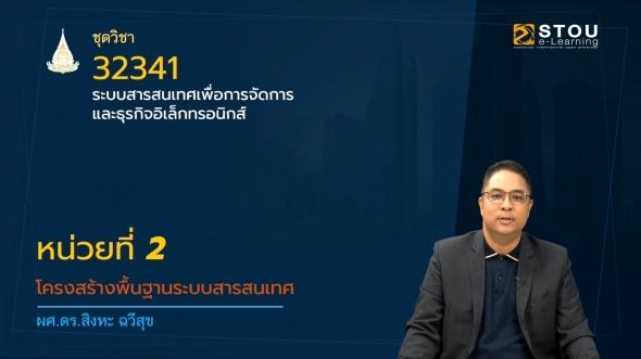 32341 หน่วยที่ 2 โครงสร้างพื้นฐานระบบสารสนเทศ