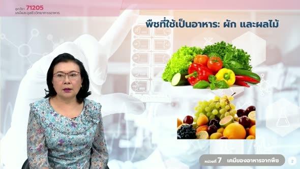 71205 หน่วยที่ 7 เคมีของอาหารจากพืช