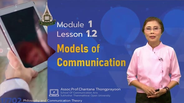 17702 Module 1 Lesson 1.2 Models of Communication