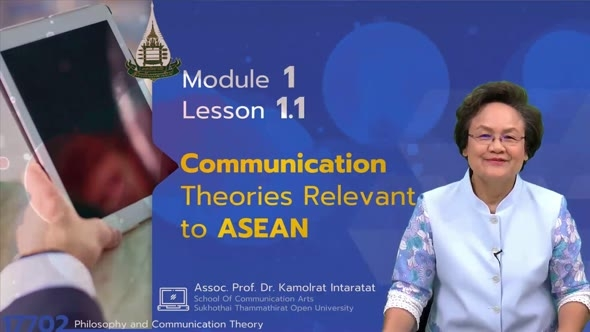 17702 Module 1 Lesson 1.1 Communication Theories Relevant to ASEAN