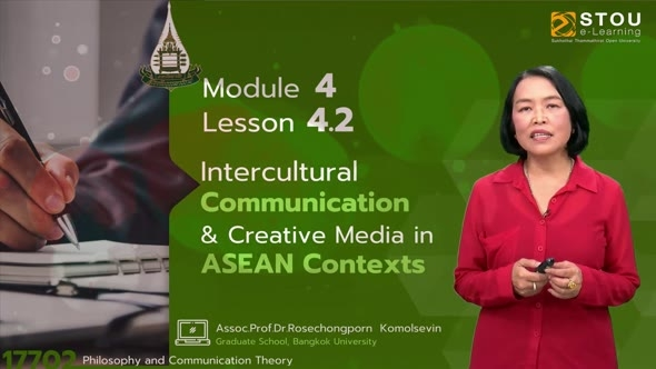 17702 Module 4 Lesson 4.2 Intercultural Communication & Creative Media in ASEAN Contexts