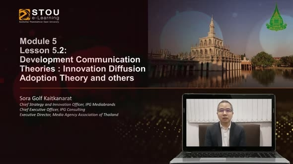 17702 Module 5 Lesson 5.2 Development Communication Theories:Innovation Diffusion Adoption Theory and Others