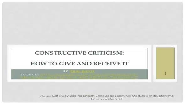14111 Constructive Criticism part2