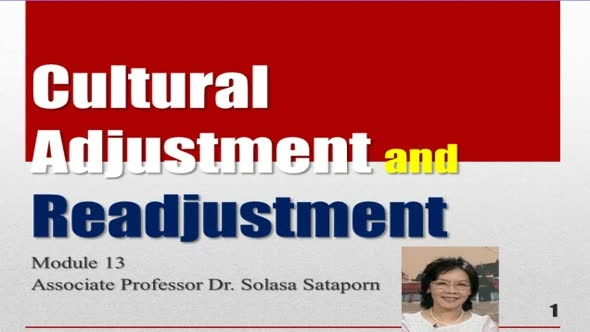 14216 Module 13 Cultural Adjustment and Readjustment