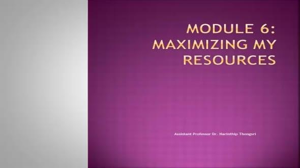 14111 Module 6 Maximizing