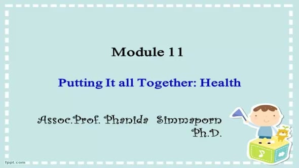 14213 Module 11 บรรยายสรุปโมดูลที่ 11