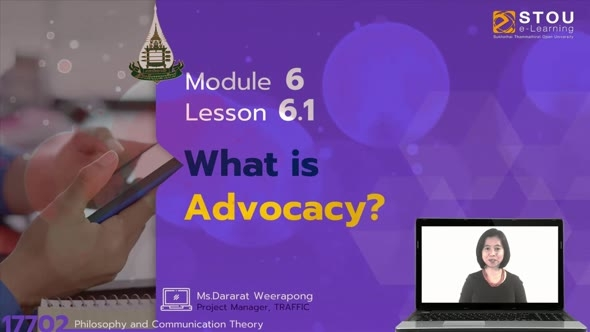 17702 Module 6 Lesson 6.1 What is advocacy