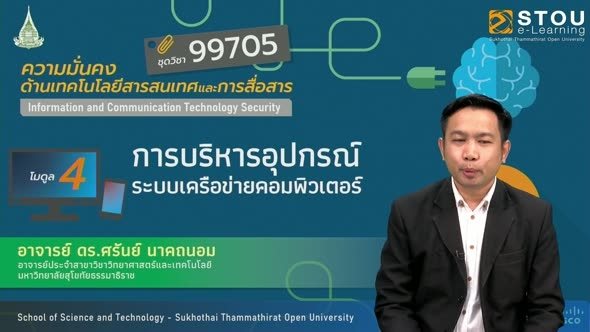 99705 โมดูล 4 การบริหารอุปกรณ์ระบบเครือข่ายคอมพิวเตอร์