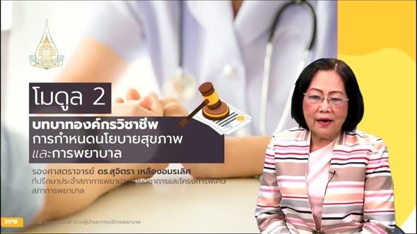 51718 โมดูล 2 บทบาทองค์กรวิชาชีพ การกำหนดนโยบายสุขภาพและการพยาบาล