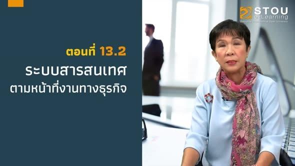 32209 หน่วยที่ 13 ระบบสารสนเทศเพื่อการบริหารธุรกิจ ตอนที่ 2 ระบบสารสนเทศตามหน้าที่ทางธุรกิจ