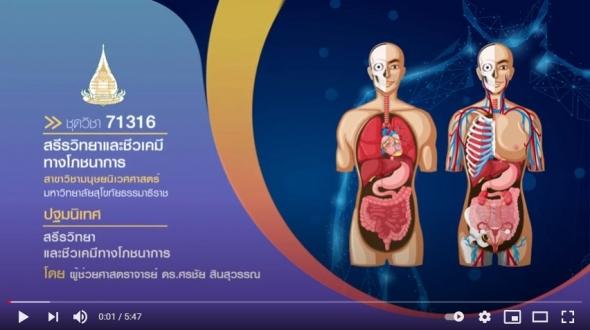 มสธ. 71316 สรีรวิทยาและชีวเคมีทางโภชนาการ ปฐมนิเทศ