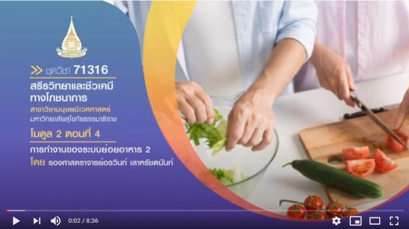 มสธ. 71316 สรีรวิทยาและชีวเคมีทางโภชนาการ โมดูล 2 ตอนที่ 4