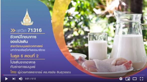 มสธ. 71316 โมดูล 6 ตอนที่ 2 โปรตีนจากอาหารกับร่างกายมนุษย์