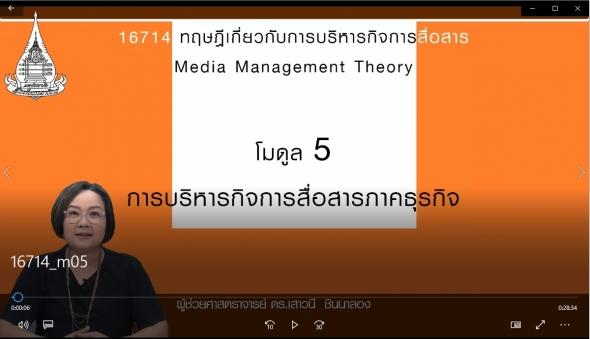 16714 โมดูล 5 การบริหารกิจการสื่อสารภาคธุรกิจ