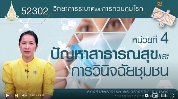 52302 โมดูลที่ 4 เรื่องปัญหาสาธารณสุขและการวินิจฉัยชุมชน