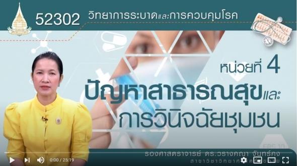 52302 โมดูลที่ 4.1 เรื่องปัญหาสาธารณสุขและการวินิจฉัยชุมชน