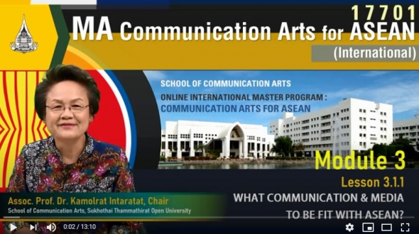 17701 module 3 lesson 3.1.1 what communication media to be fit with asean ?