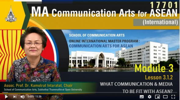 17701 module 3 lesson 3.1.2 what communication & media to be fit with asean ?