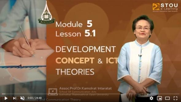 17702 Module 5 Lesson 5.1 Devel Opment Concept & ICT Theories