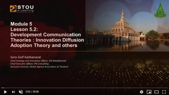 17702  Module 5 Lesson 5.2 Development Communication Theories:Innovation Diffusion Adoption