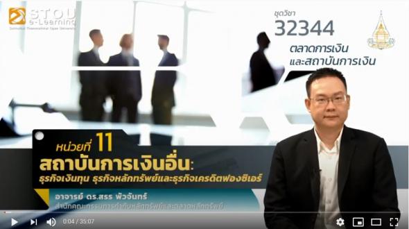 32344 หน่วยที่ 11 สถาบันการเงินอื่น :