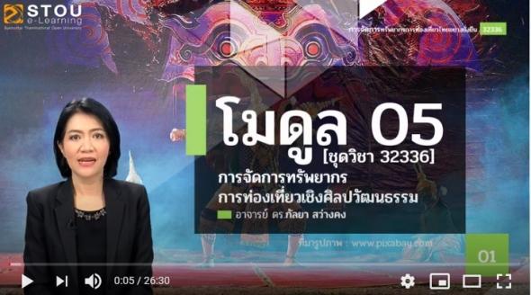 32336 โมดูล 5 การจัดการทรัพยากรการท่องเที่ยวเชิงวัฒนธรรม