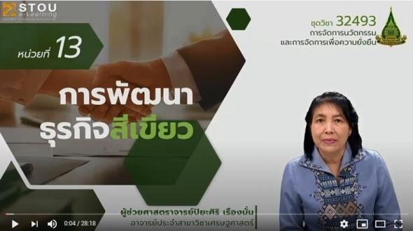 32493 หน่วยที่ 13 การพัฒนาธุรกิจสีเขียว