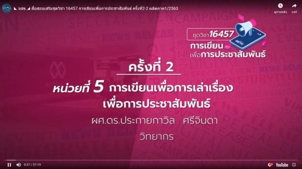 สื่อสอนเสริมชุดวิชา 16457 การเขียนเพื่อการประชาสัมพันธ์ ครั้งที่2-2