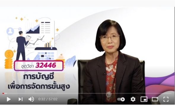 32446 สื่อสอนเสริมชุดวิชา 32446 การบัญชีเพื่อการจัดการชั้นสูง ครั้งที่3-1 ผลิตภาค1/2563