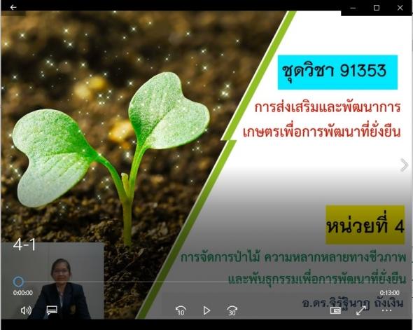 91353 หน่วยที่ 4-1 การจัดการป่าไม้ ความหลากหลายทางชีวภาพและพันธุกรรมเพื่อการพัฒนาที่ยั่งยืน