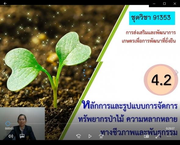 91353 หน่วยที่ 4-2 หลักการและรูปแบบการจัดการทรัพยากรป่าไม้