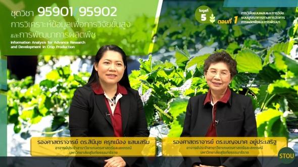 95901/95902 โมดูลที่ 5 ตอนที่ 1 การวิจัยแบบผสมและการวิจัยแบบบูรณาการทางการจัดการการผลิตพืชฯ