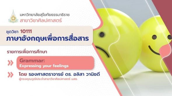 10111 Unit 2 Grammar: Expressing your feelings