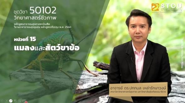 50102 หน่วยที่ 15 แมลงและสัตว์ขาข้อ