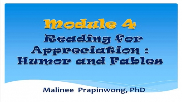 14317 Module 4 Reading for Apprecidtion:Humor and Fables
