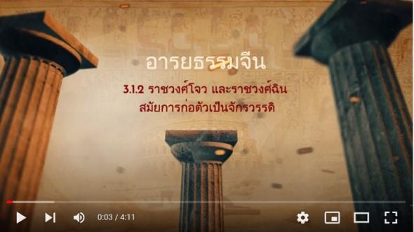 10121 เรื่องที่ 3.1.2 ราชวงศ์โจวและราชวงศ์ฉินสมัยการก่อตัวเป็นจักรวรรดิ
