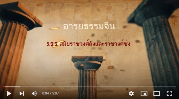 10121 เรื่องที่ 3.2.2 สมัยราชวงศ์ถังและราชวงศ์ซ่ง