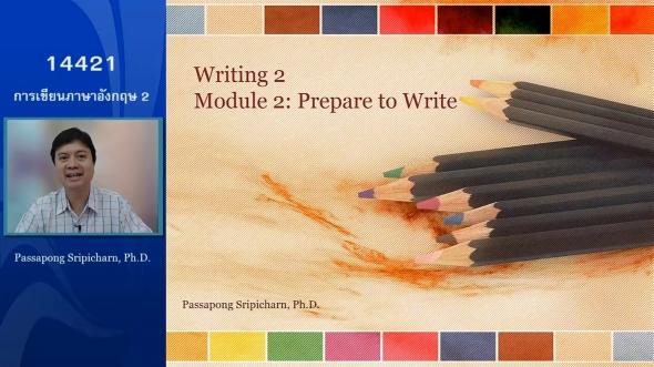 14421 Module2 Module 2 : Prepare to Write